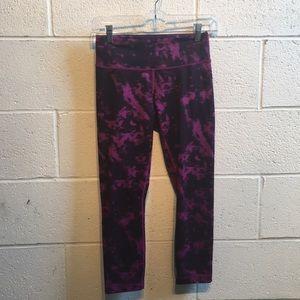 Lululemon purple tye dye leggings sz 4 59711